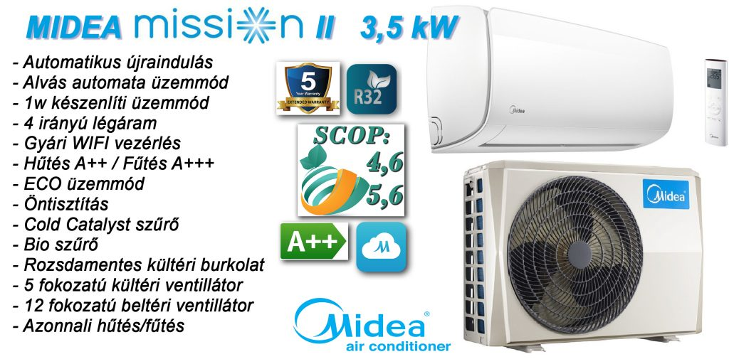 Midea mission inverteres klíma