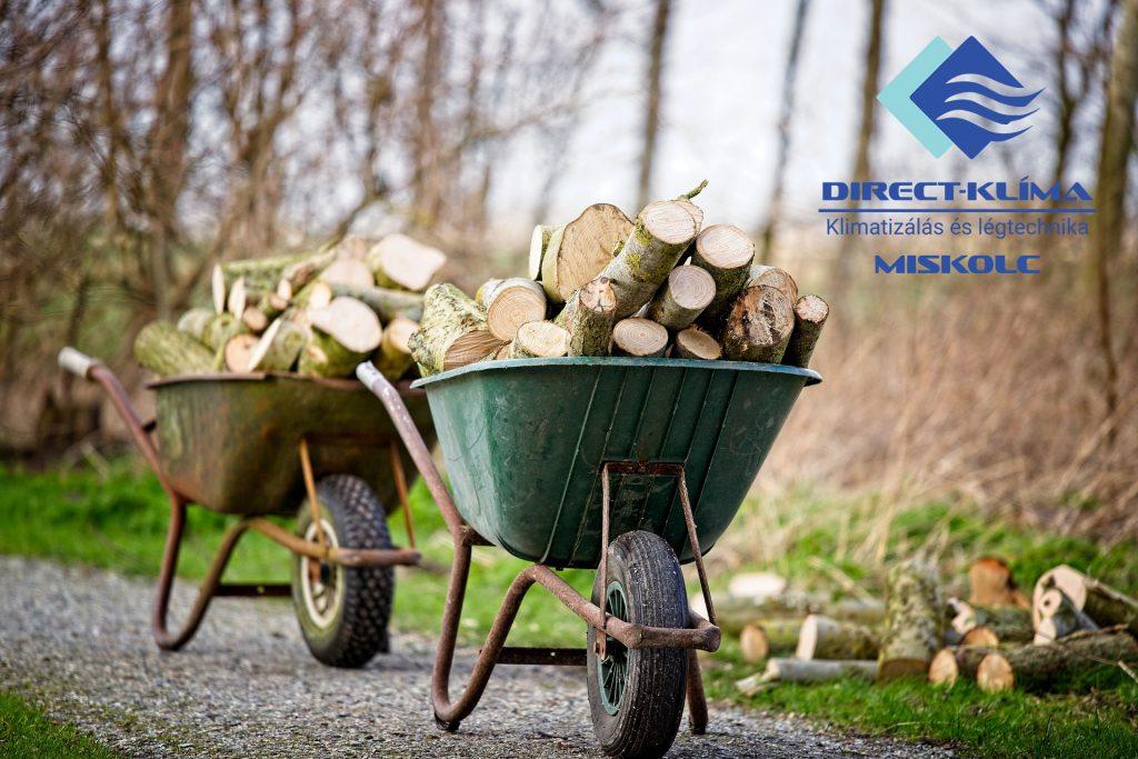 A favágás és fával fűtés már nem korszerű és nem gazdaságos. Fűtsön klímával.