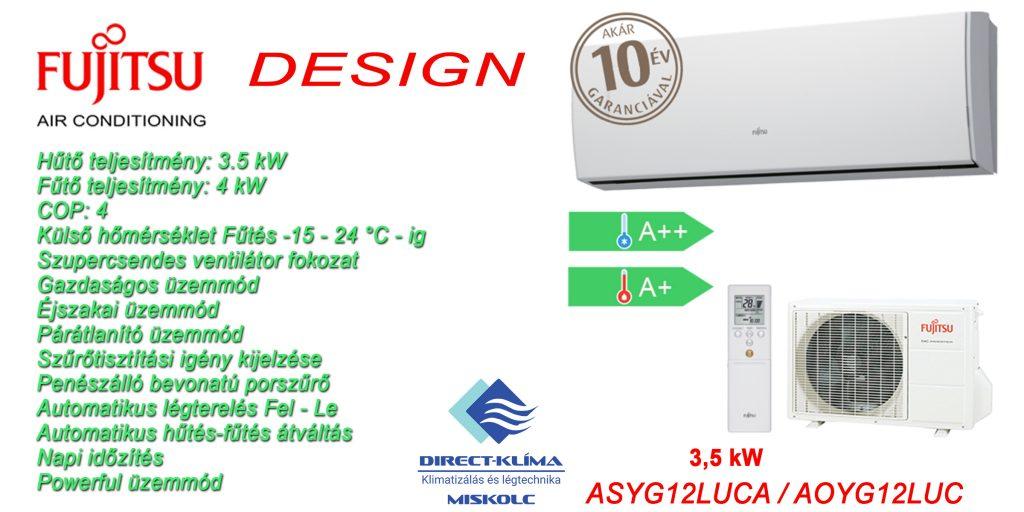 Fujitsu Design klímaberendezés telepítése Miskolc