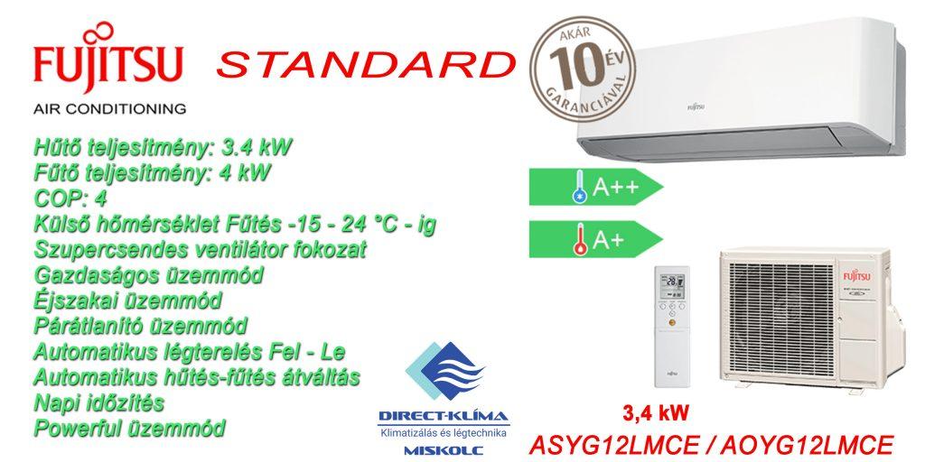 Fujitsu Standard 3.4 kw Klíma