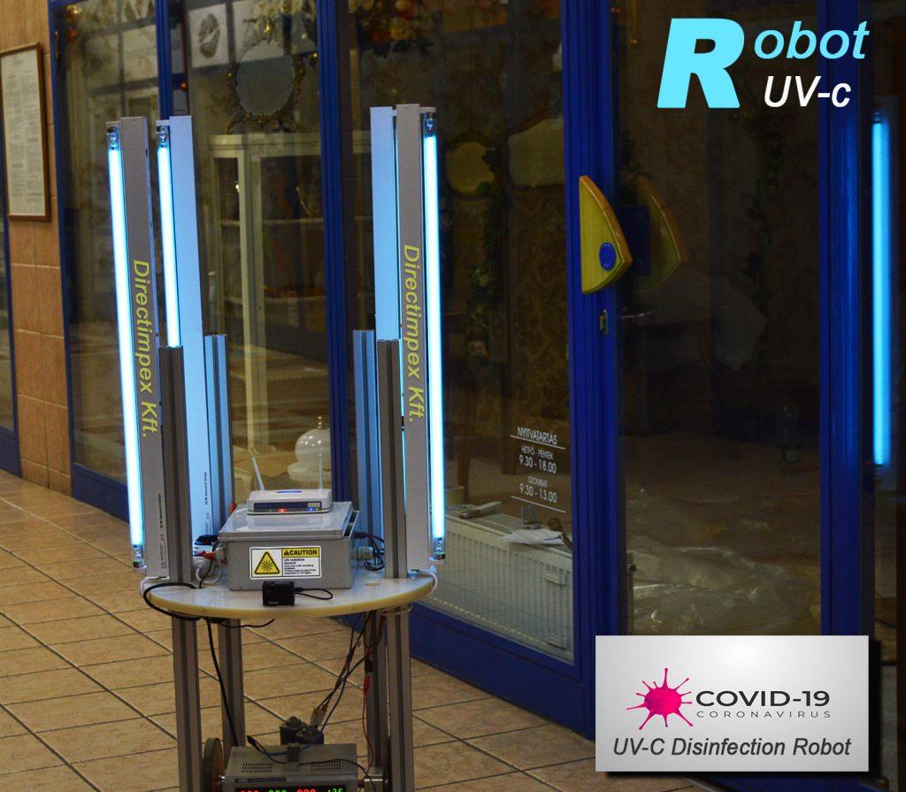 COVID 19 fertőtlenítő germicid robot UV c