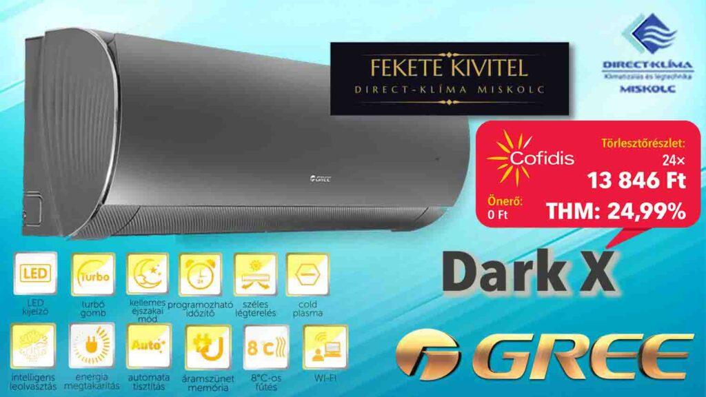 Gree DarkX Inverteres klíma áruhitelre