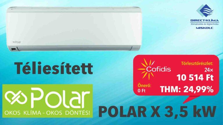 Polar x inverteres klíma áruhitelre